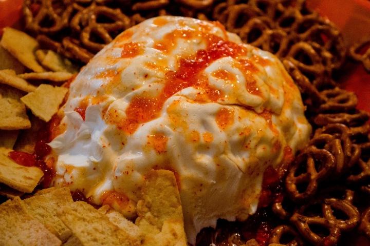 Halloween Snacks Brain Cream Cheese Mold