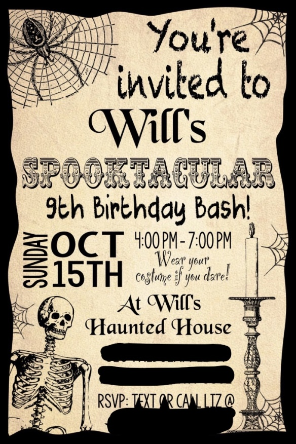 Spooktacular Birthday Bash Costume Party Invitation